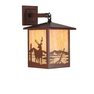 Price comparison Seneca Deer Creek 1-Light Outdoor Wall Lantern By Meyda Tiffany