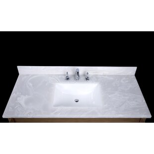 Asolo 49 Single Bathroom Vanity Top by Renaissance Vanity