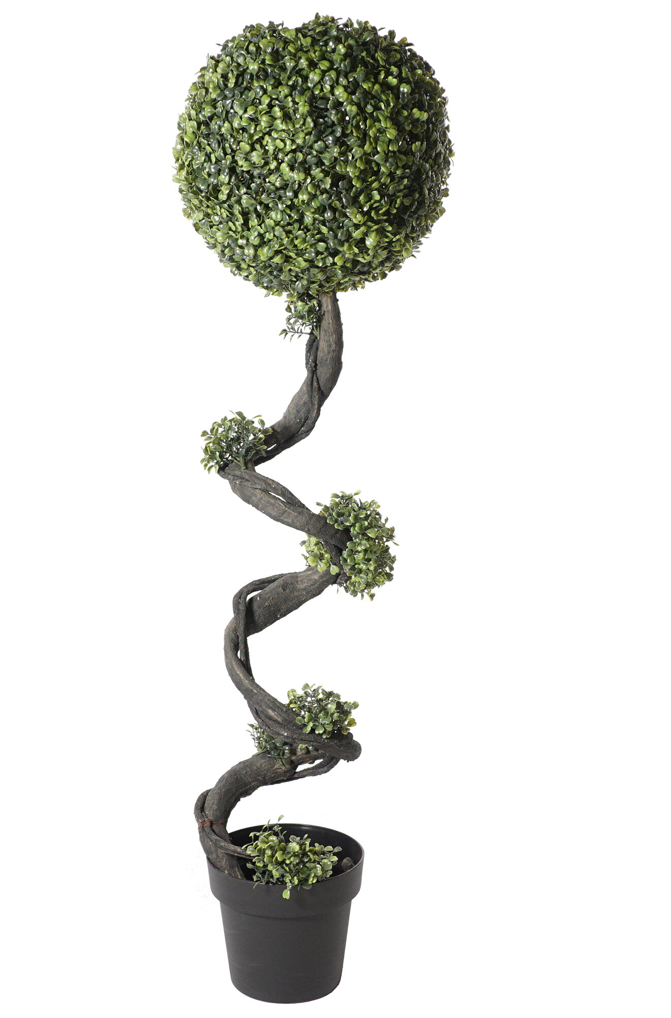 Home Decor Pair Of 3ft 4ft Spiral Potted Artificial Boxwood Topiary Spiral Trees W Planter Home Furniture Diy Cruzeirista Com Br