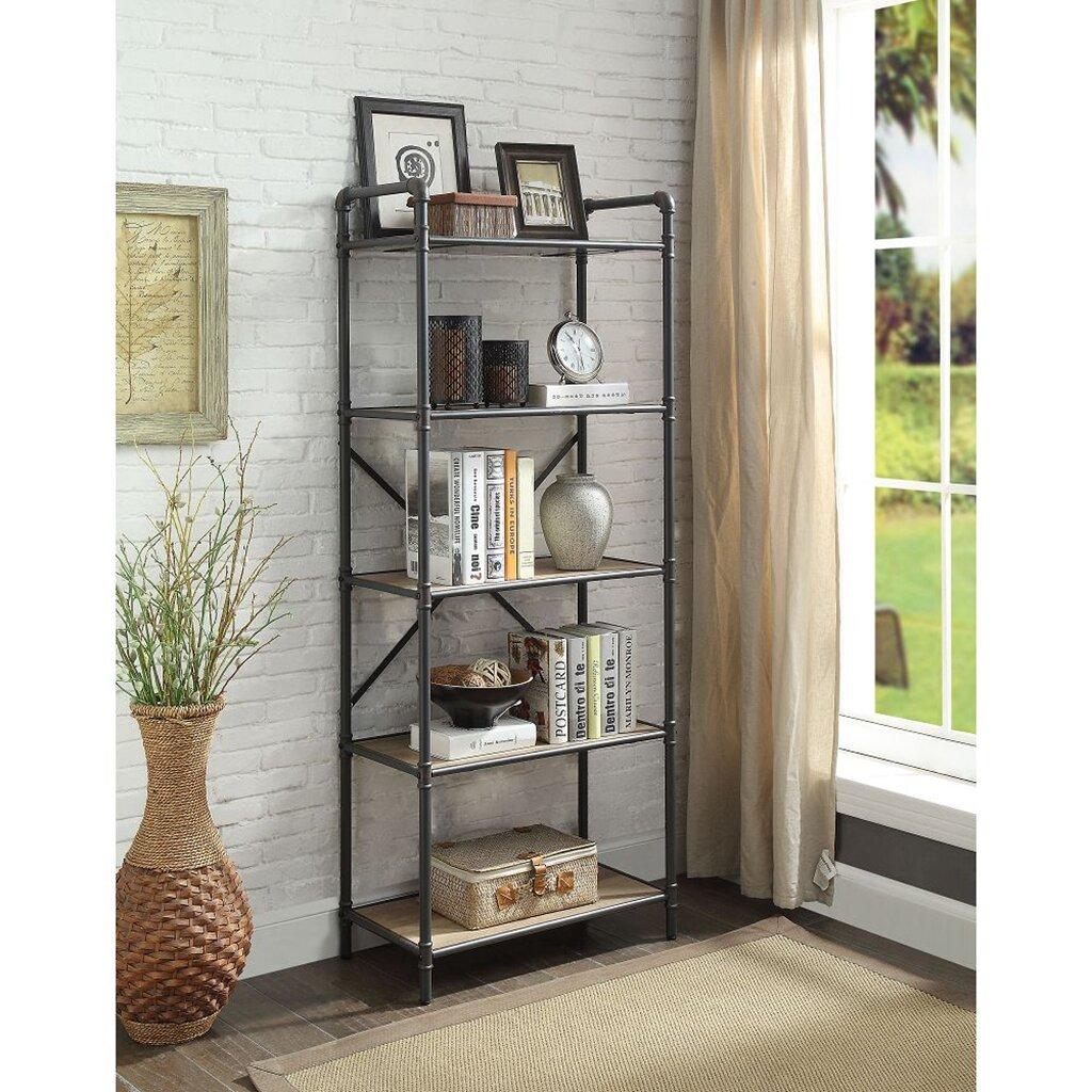 17 Stories Lindner 63 H X 26 W Metal Etagere Bookcase Wayfair