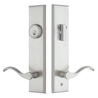 Baldwin Longview Handleset With Single Cylinder Deadbolt And Door Lever And Rustic Square Rosette Reviews Wayfair