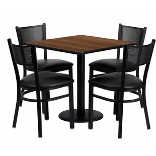 Maurin Square Laminate 5 Piece Dining Set