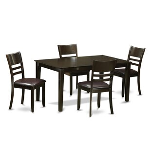 Capri 5 Piece Dining Set by Wooden Importers Spacial Price