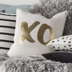 Yahya XO Cotton Throw Pillow Cover