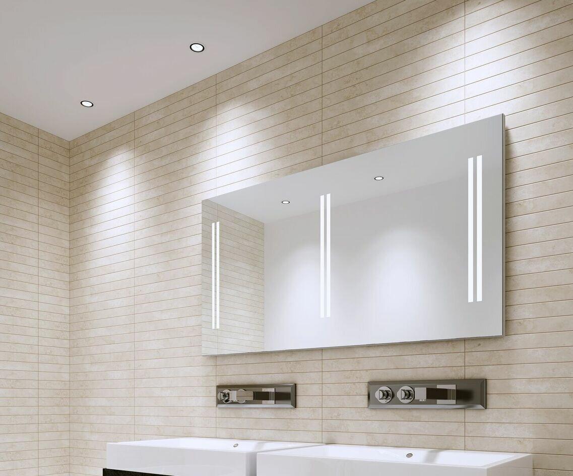 Aamsco Unico Modern Contemporary Frameless Lighted Bathroom Vanity Mirror Perigold