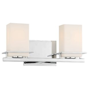 Delroy 2-Light Vanity Light By Latitude Run Wall Lights