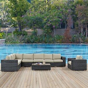 Keiran 7 Piece Sunbrella Sectional Set with Cushions