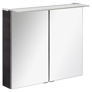 96 X 71cm Surface Mount Mirror Cabinet With LED Lighting By Fackelmann