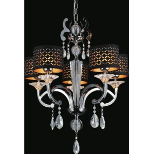 CWI Lighting Hypnotic 5-Light Shaded Chandelier