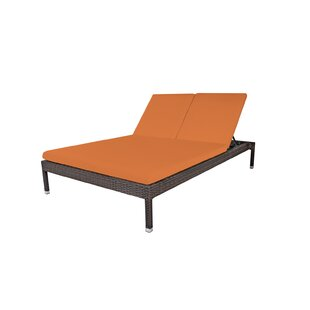 Brayden Studio Roque Double Chaise Lounge with Cushion