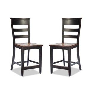 Pleasant Review Of Gracie Oaks George 24 Bar Stool Set Of 2 At Cheap Creativecarmelina Interior Chair Design Creativecarmelinacom