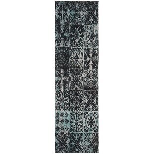 Goulburn Blue/Black Area Rug By World Menagerie