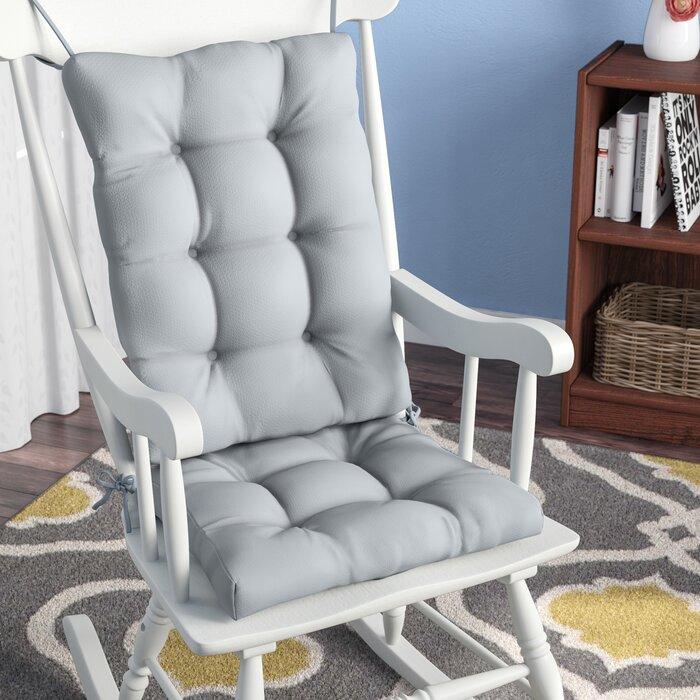 2 Piece Indoor Rocking Chair Cushion