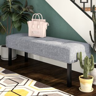 Zipcode Design Geiser Upholstered Memory Foam Bench