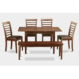 Antonio 6 Piece Extendable Breakfast Nook Solid Wood Dining Set by Andover Mills™