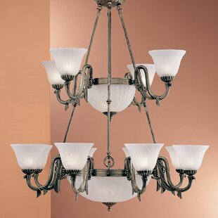 Classic Lighting St. Moritz 17-Light Shaded Chandelier