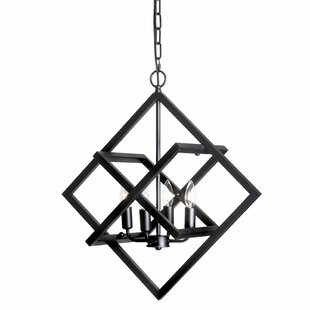 Bunny 4-Light Geometric Chandelier by Wrought Studio