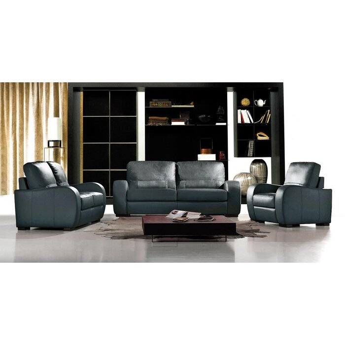 Admirable Savana 3 Piece Leather Living Room Set Bralicious Painted Fabric Chair Ideas Braliciousco
