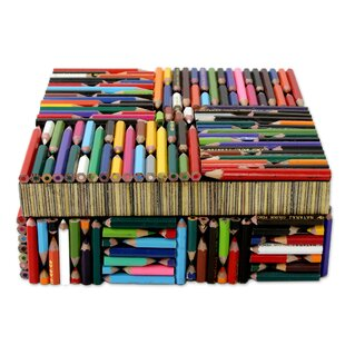 Novica Life in Color Recycled Pencil Box