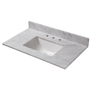 Price comparison Marble 37 Single Bathroom Vanity Top ByHalstead International