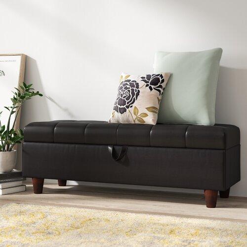 Norfolk Faux Leather Storage Bench Zipcode Design