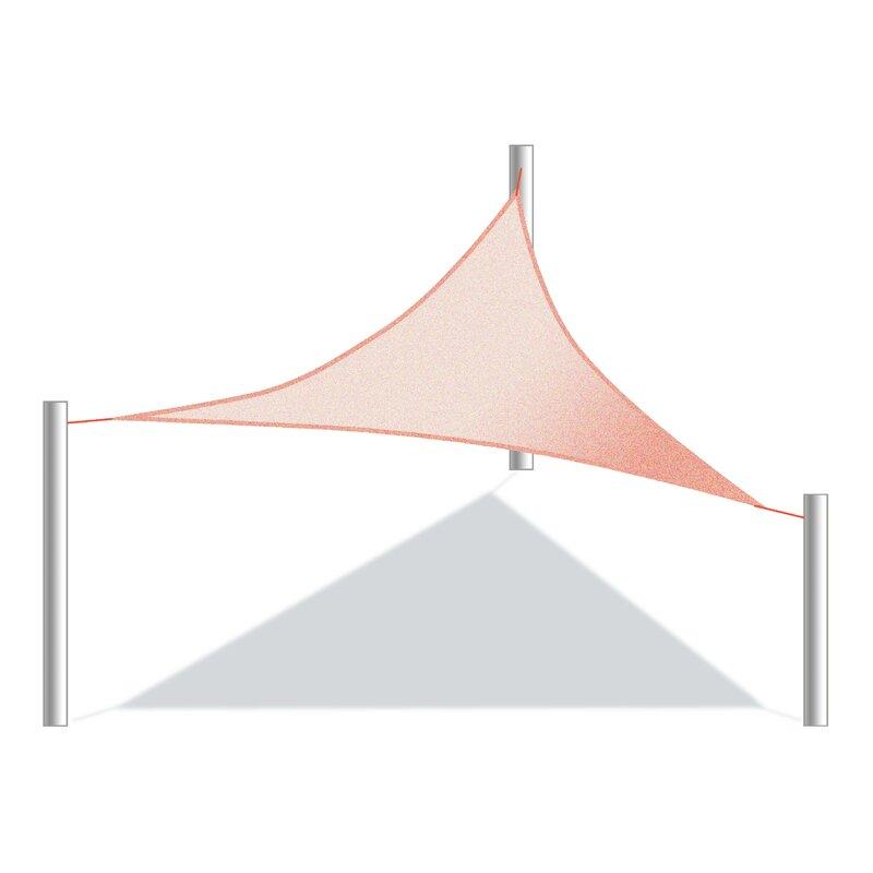 ALEKO Outdoor UV Block 12 Triangle Shade Sail  Color: Terra Cotta