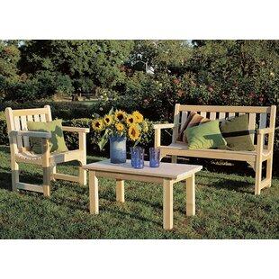 Rustic Natural Cedar Furniture English Bench Seating Group
