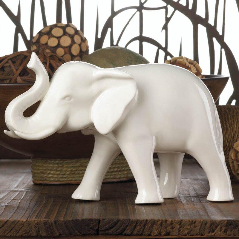 Sleek Ceramic Elephant Figurine