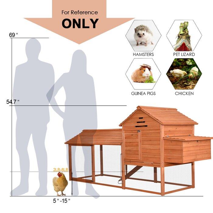 Tucker Murphy Pet Copes Extra Large Chicken Poultry Rabbit Pet Coop