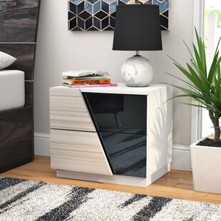 Orren Ellis Nikhat 2 Drawer Nightstand