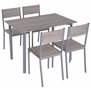 Legros Modern Compact 5 Piece Dining Set