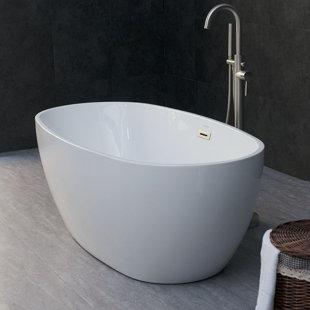 Higgenbotham 59 inch  x 31 inch  Freestanding Soaking Bathtub