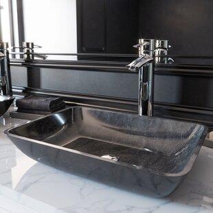 Top Reviews Glass Rectangular Vessel Bathroom Sink ByVIGO
