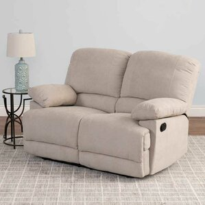 Condron Chenille Reclining Loveseat by Red Barrel Studio