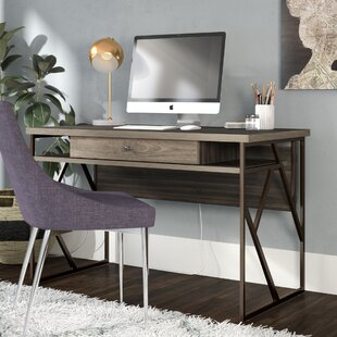 Reviews Derwood Distressed Storage Writing Desk By Mercury Row