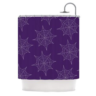 Great choice Spiderwebs Shower Curtain By East Urban Home