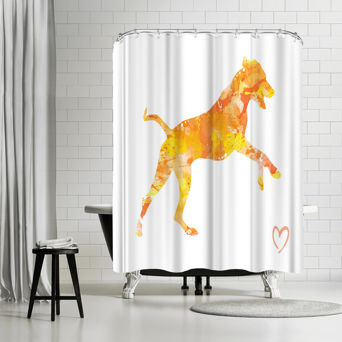 East Urban Home Allison Gray Rhodesian Ridgeback Single Shower Curtain Wayfair