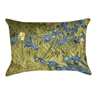Bristol Woods Irises Lumbar Pillow by Red Barrel Studio No Copoun