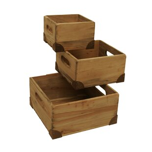Find a 3 Piece Weathered Pine Crates Set By WaldImports