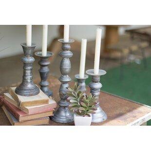 5 Piece Metal Candlestick Set