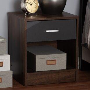 Ebern Designs Amethyst 1 Drawer Nightstand