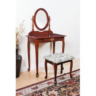 Hertfordshire Vanity Set with Mirror by Charlton Home