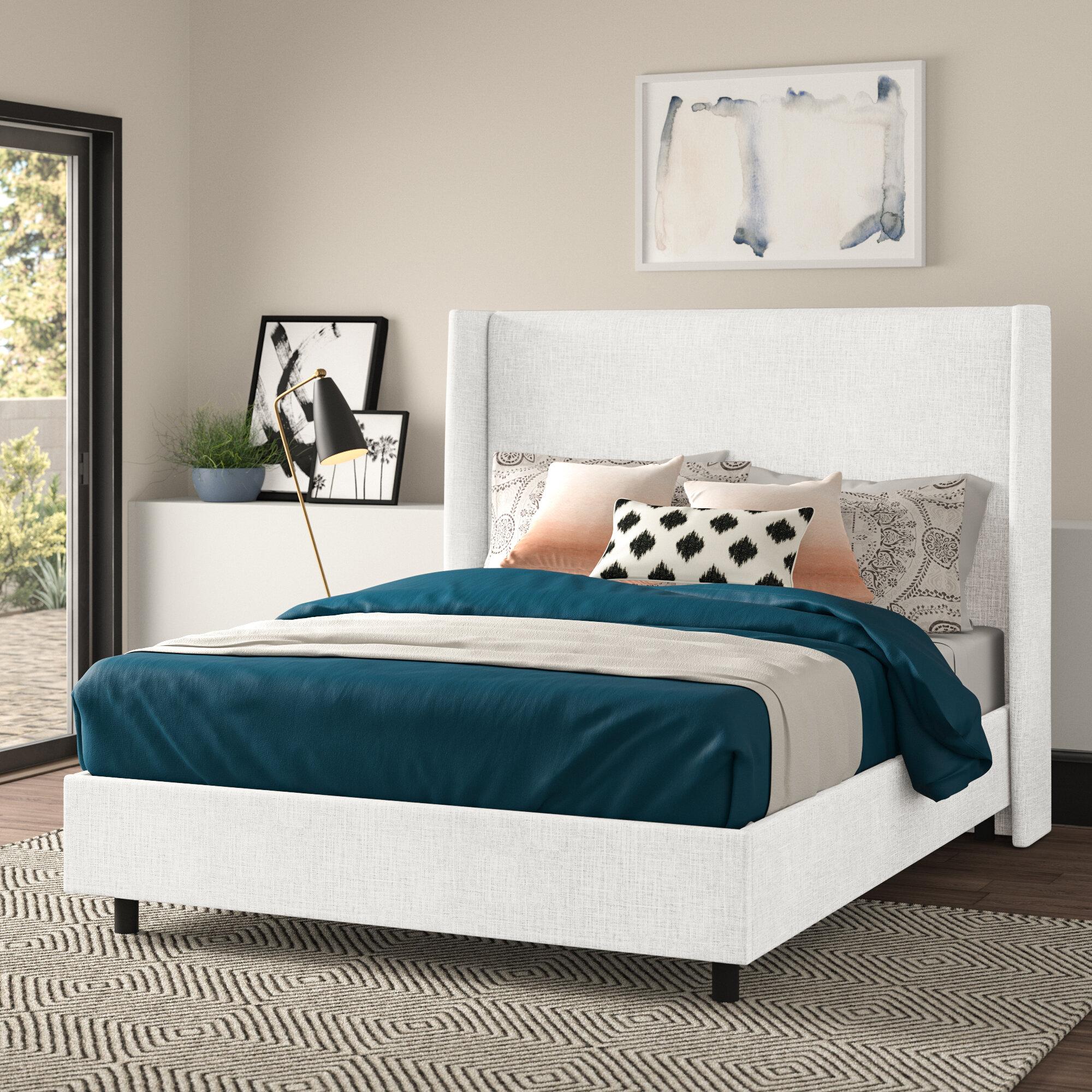 Joss Main Alrai Upholstered Low Profile Standard Bed Reviews Wayfair Ca