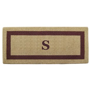 pertaining monogram front regard outstanding mats with amazing to inside monogrammed door mat com interior from popular customized