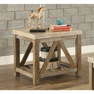 Ischua Wooden End Table