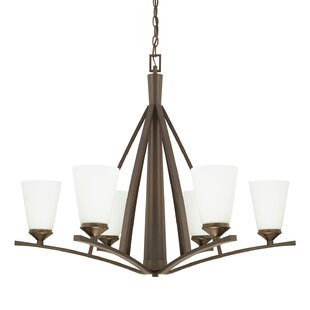 Lora 6-Light Shaded Chandelier by Latitude Run