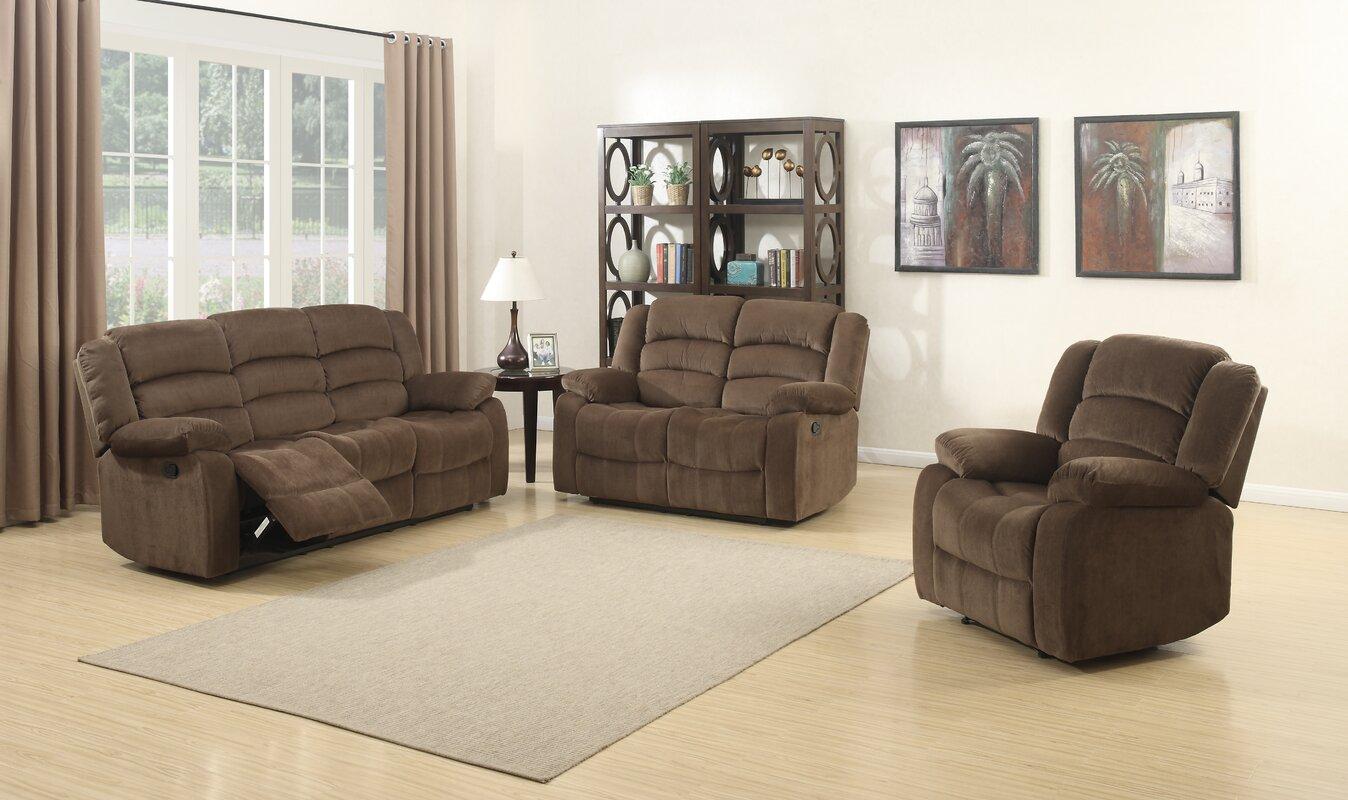 AC Pacific Bill 3 Piece Living Room Set & Reviews   Wayfair