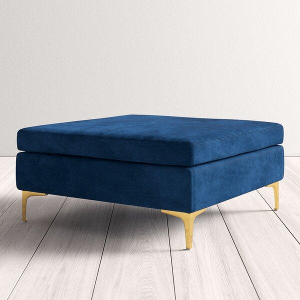 Outstanding Modern Contemporary Navy Blue Ottoman Allmodern Spiritservingveterans Wood Chair Design Ideas Spiritservingveteransorg