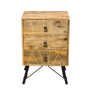 Union Rustic Grisha 3 Drawer Nightstand