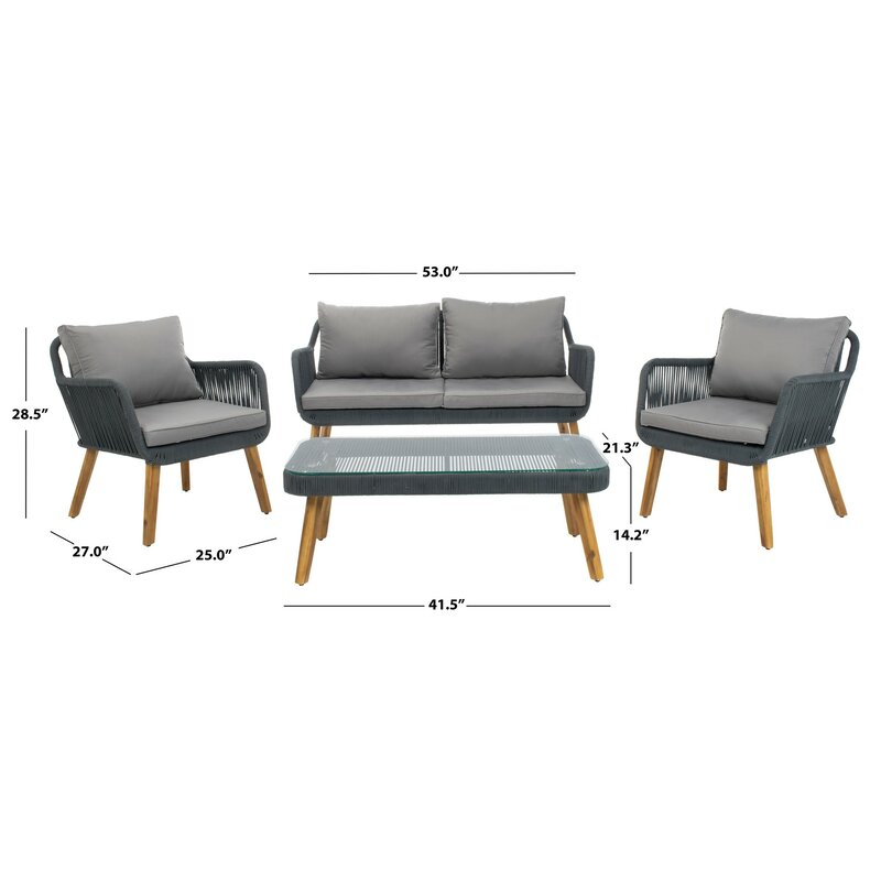Jewett 4 Piece Sofa Seating Group With Cushions Reviews Allmodern